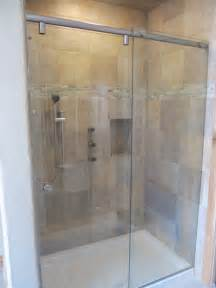 sliding frameless glass shower doors frameless sliding shower door gallery custom shower