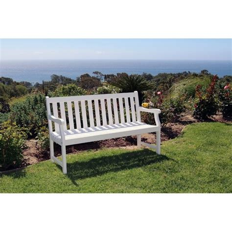 white bench outdoor bradley outdoor bench in white v1627