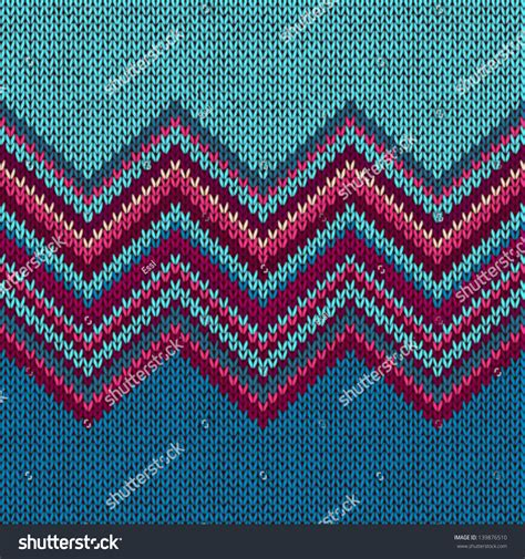 pink nordic pattern knitted seamless fabric pattern beautiful red stock vector