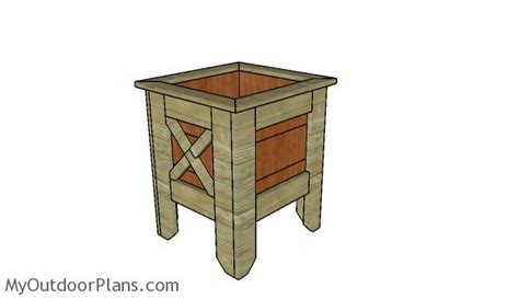 Square Planter Box Plans by Square Planter Box Plans Myoutdoorplans Free