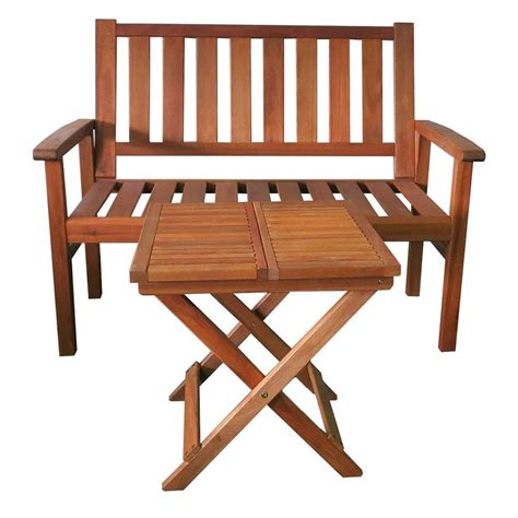 two seater bench with table kontiki porch seating wood benches new york 2 seater