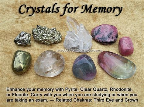 crystals for memory healing gemstones