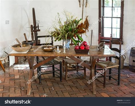 fashioned kitchen table and chairs fashioned colonial kitchen table chairs stock photo