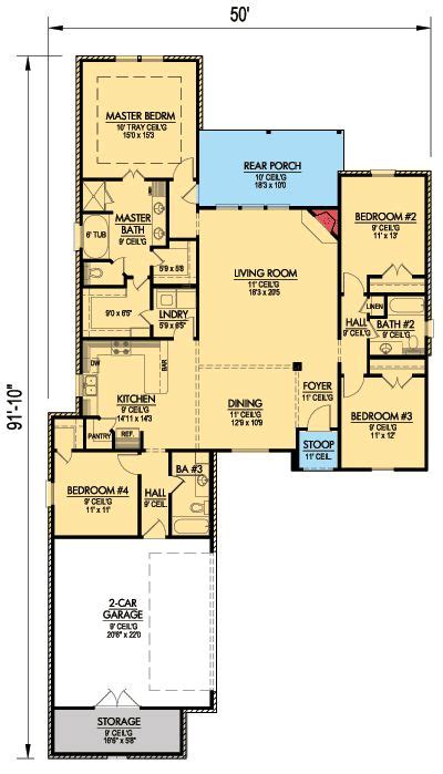Plan 56322sm Narrow Lot French Country Home Plan House Country House Plans Narrow Lot