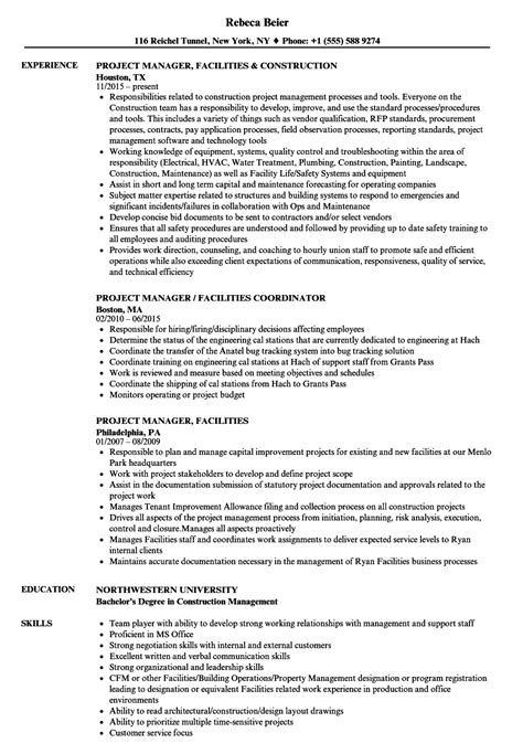 amazing facilities management resume pictures inspiration