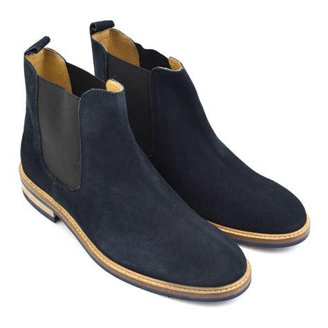 buy mens designer navy suede chelsea boots gucinari