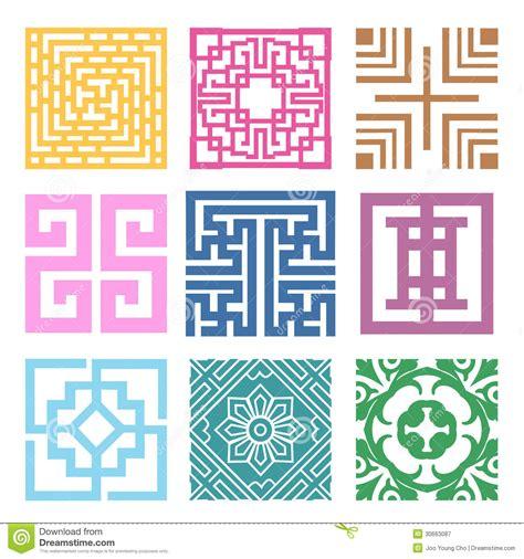 pink pattern korean plaid symbol sets geometric pattern design korean