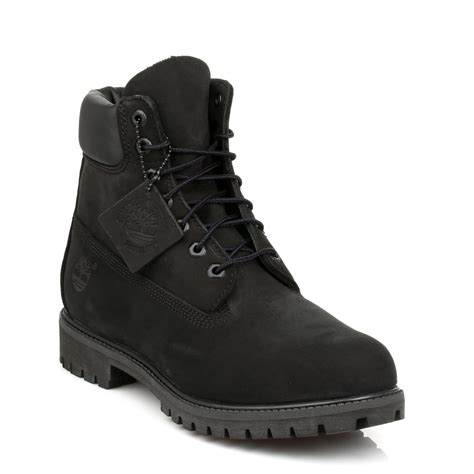 timberland mens black boots timberland mens ankle boots black 6 inch nubuck leather