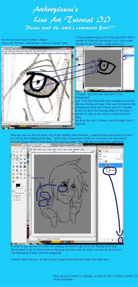 gimp lineart coloring tutorial gimp line art tutorial ii by arthropleura on deviantart