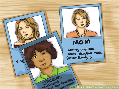 make your own trading card 3 ways to make your own trading cards wikihow