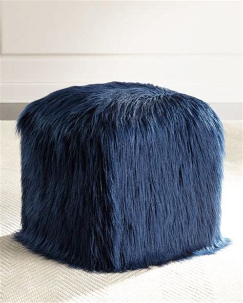 shaggy pouf ottoman various colors bubble knit pouf