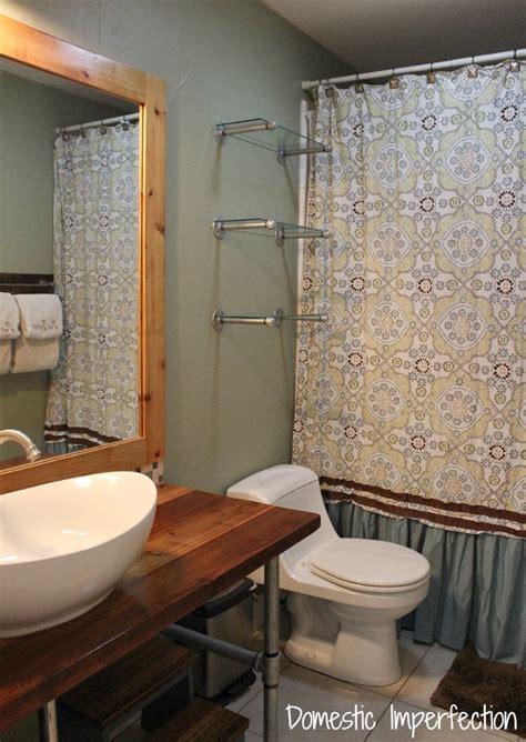 Bathroom Pipe Shelving Simple Industrial Pipe Shelving Bathroom Edition