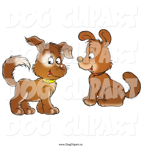 puppies puppies artist clip of puppy dogs with collars one looking at the viewer by alex bannykh 370