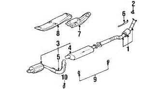 Gmc Envoy Exhaust System Diagram Parts 174 Gmc Seal Partnumber 15167765