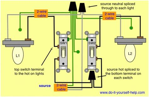 how to wire light switches diagram wiring