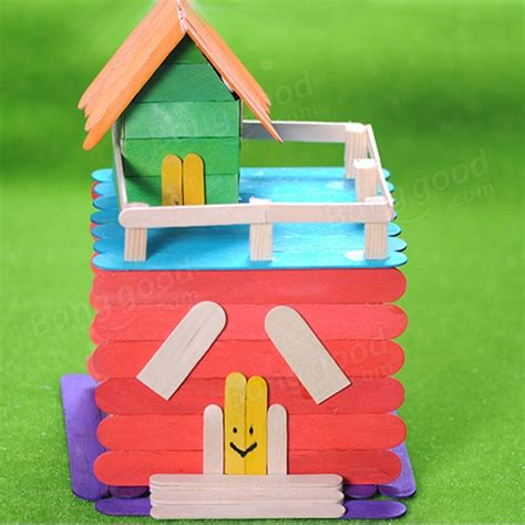 Diy Handcrafts - 50pcs wooden popsicle sticks arts lolly