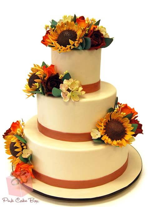 autumn themed bridal shower cakes fall themed wedding cakes 187 pink cake box custom cakes more