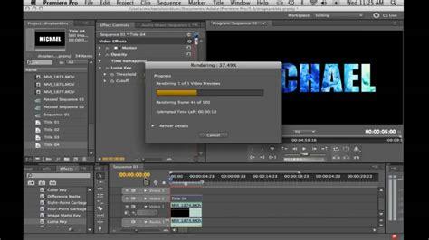 adobe premiere pro overlay video translucent text adobe premiere tutorial youtube