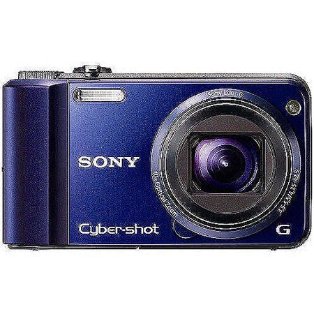 sony cyber shot dsc h70 16mp digital camera, blue w/ 10x