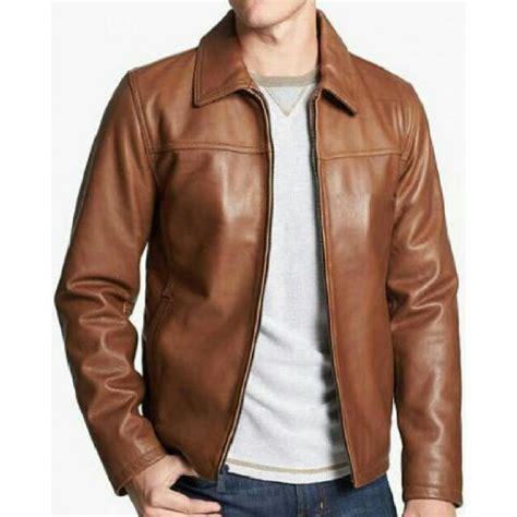 jaket blazer kerja kantor formal bahan semi kulit sintetis