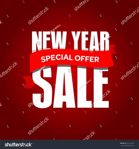 new year promotion banner new year sale badge label promo stock vector 541529479