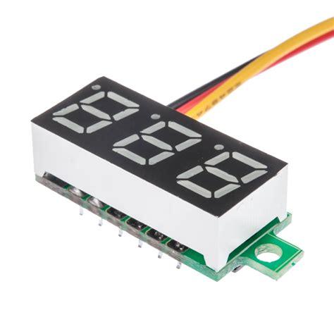 Dijamin Voltmeter Digital Mini 7 25 Volt mini digital voltmeter led panel voltage meters 3