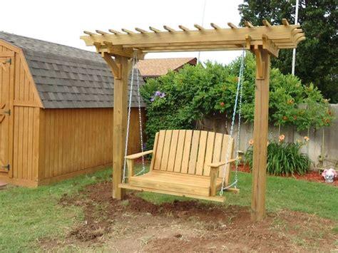 arbor swing plans pergola swings and bower swing carpentry plans arbor plans
