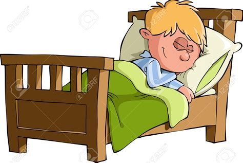 bett schlafen child sleep clipart 73