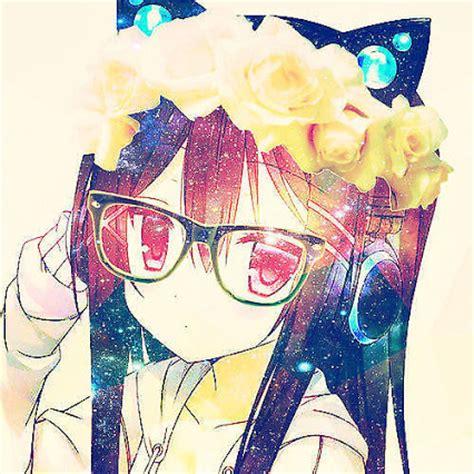 Galaxy Brown By Kawaii anime neko wt flower crown by kittypopsoda on
