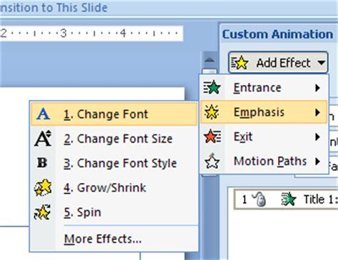 tutorial powerpoint animation 2007 add multiple animation effects to slide objects