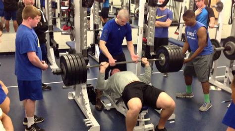 football bench press braden smith bench press youtube