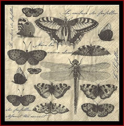 Napkin Tissue Decoupage 90 butterfly collection 4 paper napkins decoupage tissue paper scrapbooking paper mixed media