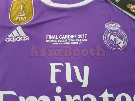 Jersey Real Madrid Home Cardiff Ucl 2017 Grade Ori 2017 chions league cardiff real madrid jersey shirt for ronaldo asia booth