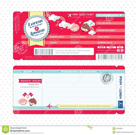 boarding pass design template premium invitation