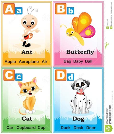 abc book of animals learn alphabets with animals in the jungle books alphabet learning book page 1 stock vector image 36053155