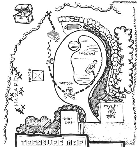Pirate Map Coloring Pages Coloring Home Pirate Treasure Map Coloring Page Coloring Home