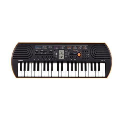Alat Musik Keyboard jual casio sa 76 orange keyboard alat musik sarung