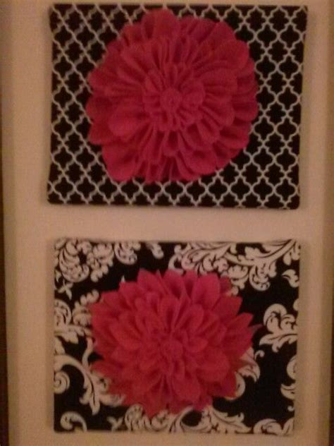 fabric crafts canvas felt flowers on fabric covered canvas crafty