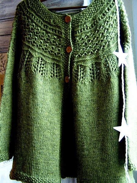 how to knit a raglan sleeve drops jacket with raglan sleeve and pattern on yoke c