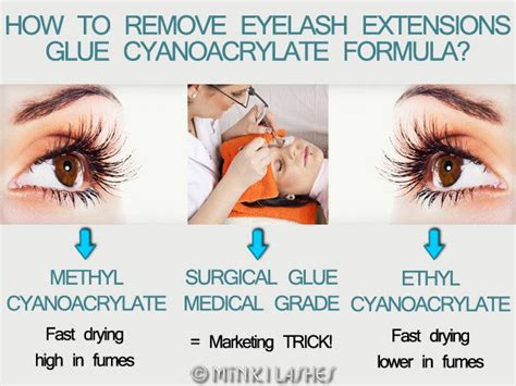 how to remove eyelash extensions glue cyanoacrylate