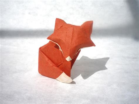 Easy Origami Fox - a simple fox origami by mitanei on deviantart
