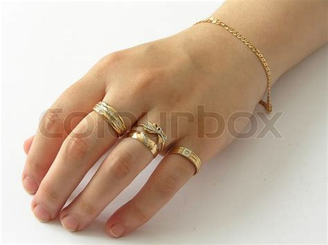 Golden Ring Pix by With Gold Rings Stock Photo Colourbox