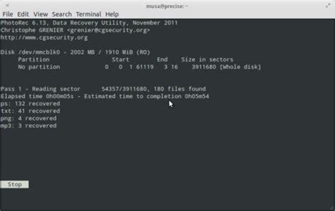 tutorial testdisk ubuntu recover memory card di linux tutorial komputer muno