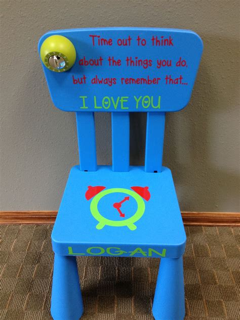 time out chair with timer personalized time out chair with timer 3 colors by giftsforit