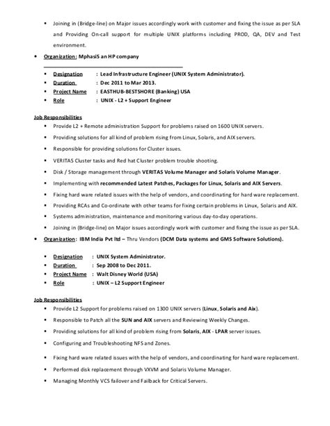 Unix Resume Job by Veerapandi Unix System Engineer Linux Solarisaix