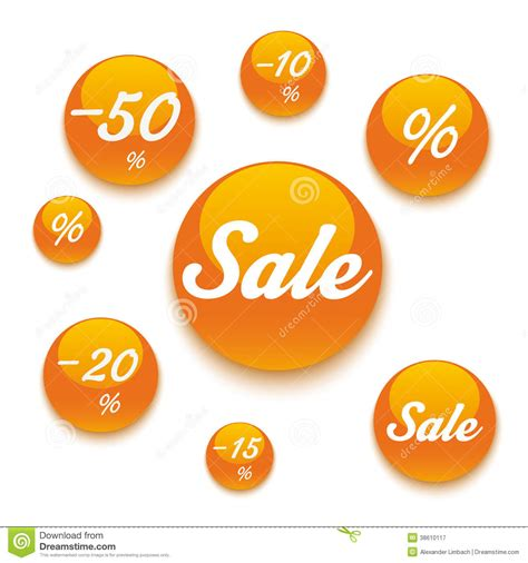 Orange Sale by Orange Sale Buttons Royalty Free Stock Photography Image