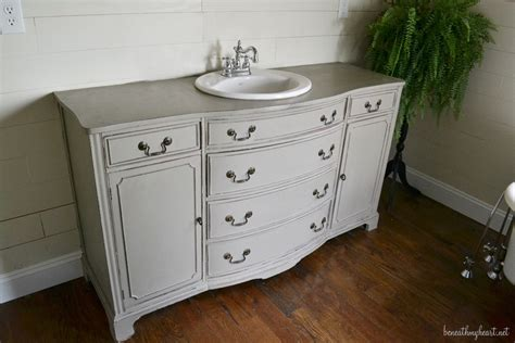 Dresser Into Bathroom Vanity by Dresser Turned Vanity Makeover Beneath