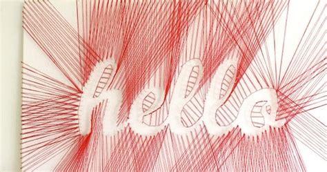 Word String - made by bronwyn word string