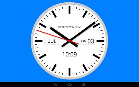 swiss analog clock 7 android apps on play