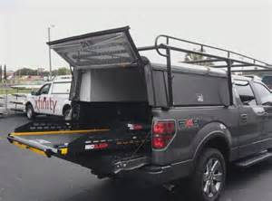 are dcu work topper w ladder rack pull out bedslide